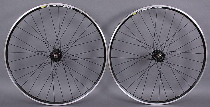 Wheels and Wheelsets 177830: Mavic Cxp Elite 700C Black Single Speed Track Bike Wheelset Formula Hubs Dt BUY IT NOW ONLY: $159.0