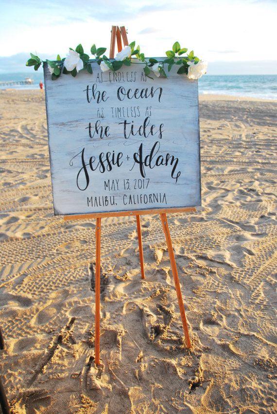 Wedding Welcome Sign - Ocean Grey