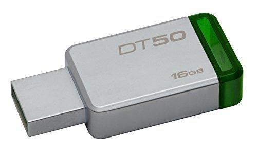 Oferta: 5.8€ Dto: -60%. Comprar Ofertas de Kingston DataTraveler DT50/16GB - Memoria USB 3.0 de 16 GB, tipo llave, color plata y verde barato. ¡Mira las ofertas!