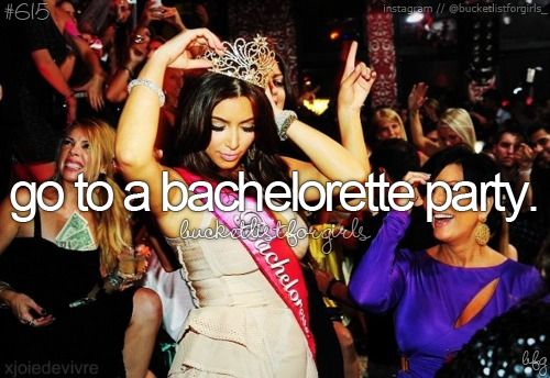 Bucket list, before i die ♥ does a bridal shower count?