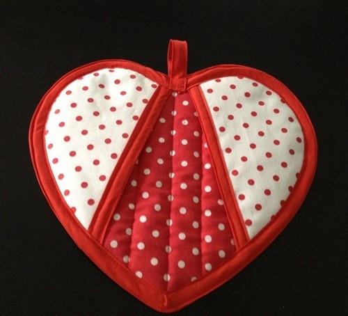 Heart Potholder Pattern ~ Sew 4 Fun