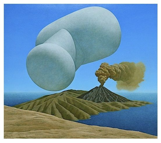 'Untitled' Balloon (acrylic on board) 1973 by Brent Wong.