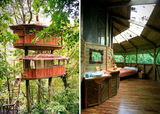 Treehouses camp wandawega wisconson us hotel costa verde for Costa rica tree house rental