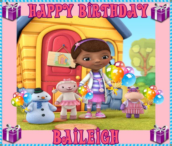 Doc McStuffins Frosting sheet Edible cake by CustomImageboutique, $9 ...