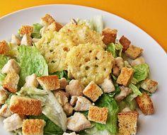 Citromhab: Csirkés saláta parmezán chips-szel