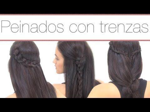 17 best images about trenzas on pinterest four strand - Ideas para peinados faciles ...