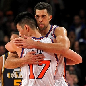 Jeremy Lin & Landry Fields - gonna miss their cool handshake...