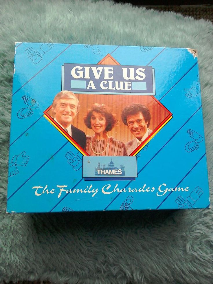 Classic game to accompany the Thames TV vintage Charades game Give Us A Clue. Complete with cards, 2 giant wooden dice, egg timer and instructions on back of box. Some wear to box edges especially top RH corner, please see photos. Cards in excellent condition, as are dice and egg timer. Great for family/party events.  | eBay!