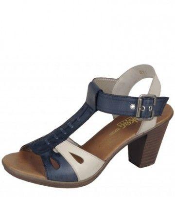 Poze Sandale dama din piele blue mix Rieker