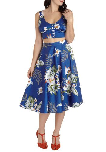 Coastal Break Top, #ModCloth. Also loving the skirt & shoes!