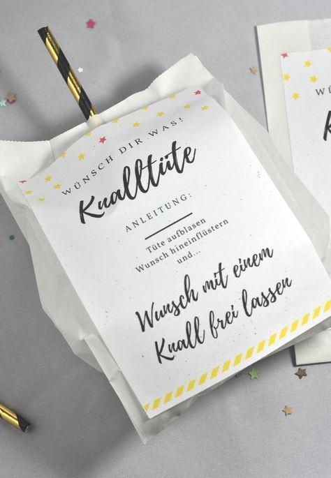 Knalltüte DIY-Idee für die Silvesterparty – Katrin Rudolph
