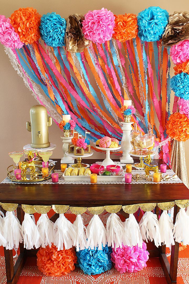 Create a colorful and vibrant Fall Fiesta Bridal Shower! Complete with easy DIYs and recipes for any fiesta all year long!
