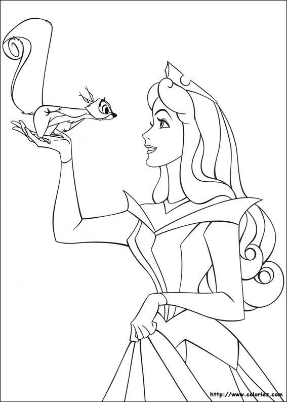 Sleeping Beauty. Disney Coloring Page. coloriage la belle au bois dormant