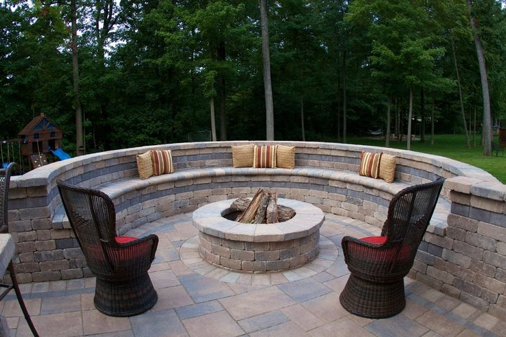 Fire Pit Kit Patio Mediterranean with Rocks Traditional Freestanding Stoves