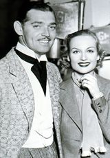 The Stars of hollywood they actors #ClarkGable and #CaroleLombard it in old photo on movie