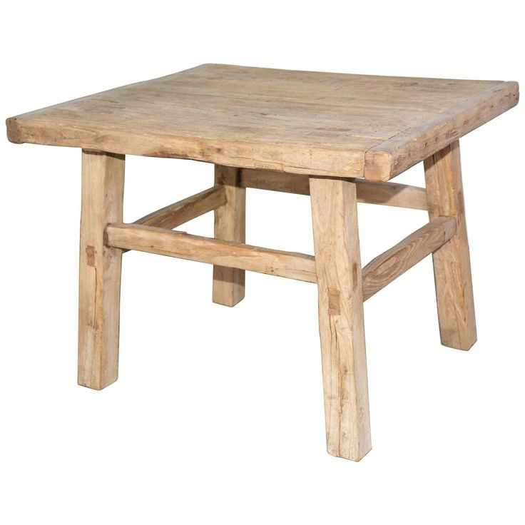 Rustic Teak Indoor or Outdoor Coffee Table or Seat