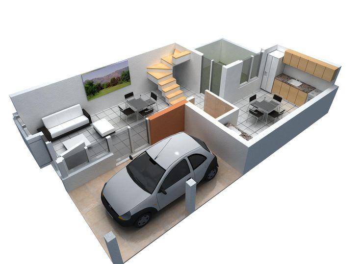 Render planta baja buscar con google planos y casas for Planos de casas de 3 recamaras