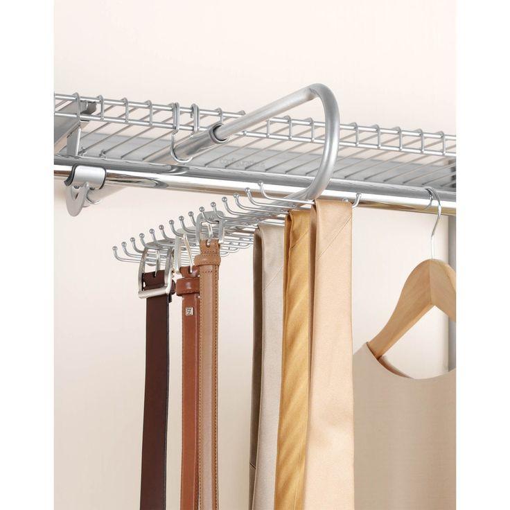 Rubbermaid FG3H9802TITNM Titanium Configurations Closet Tie U0026 Belt  Organizer (Closet Storage), White (