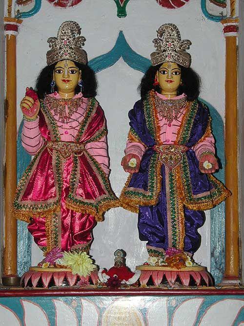 Srila Bhaktivinoda Thakur's Deities Gaura Gadadhara