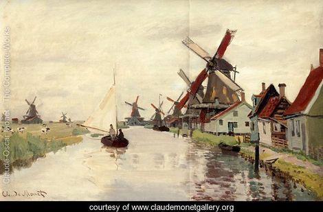 Windmills In Holland - Claude Oscar Monet - www.claudemonetgallery.org