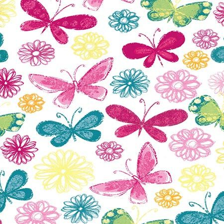 7254 Colorful Butterfly Backdrop