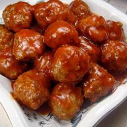 Recipe for Sweet and Sour Meatballs - A lighter take on this party and tailgating favorite in your slow-cooker. You will blow them away with how good this easy, and only you need to know how easy it was.