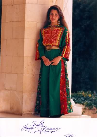 Princess Haya Bint al-Hussein, Emirate of Dubai In Jordanian traditional dress