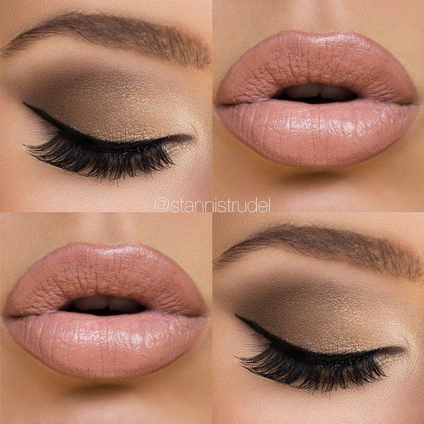 """Nude glam! This is more of a """"natural"""" look that you could wear day to day."""