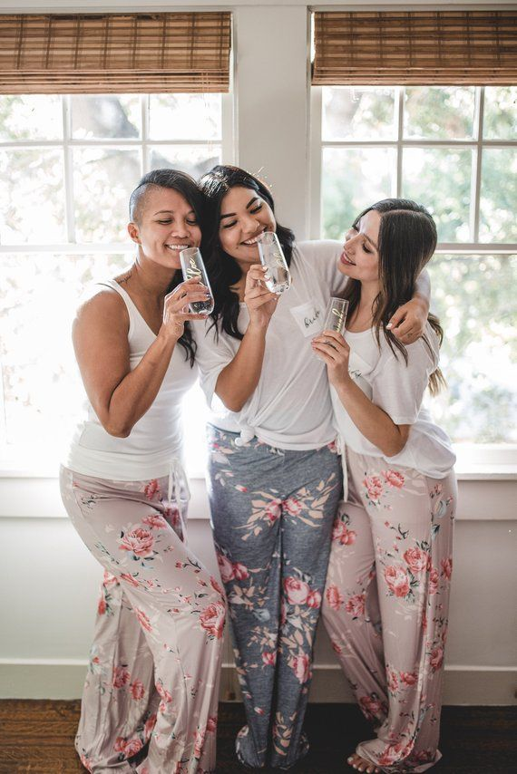 76c2cbfb10 Cute   Cozy Bridesmaid Pajama pants for your bachelorette party or for the  big day!