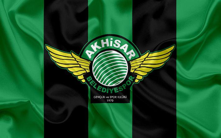 Descargar fondos de pantalla Akhisar Belediyespor, turco, club de fútbol, Belediyespor emblema, logotipo, Akhisar, Turquía, turco Campeonato de Fútbol