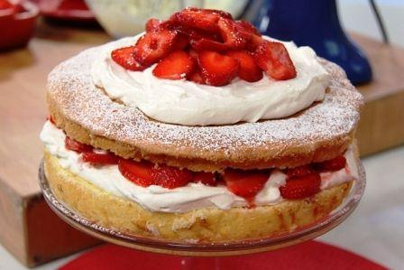 Anna Olson Strawberry Shortcake Sponge Cake