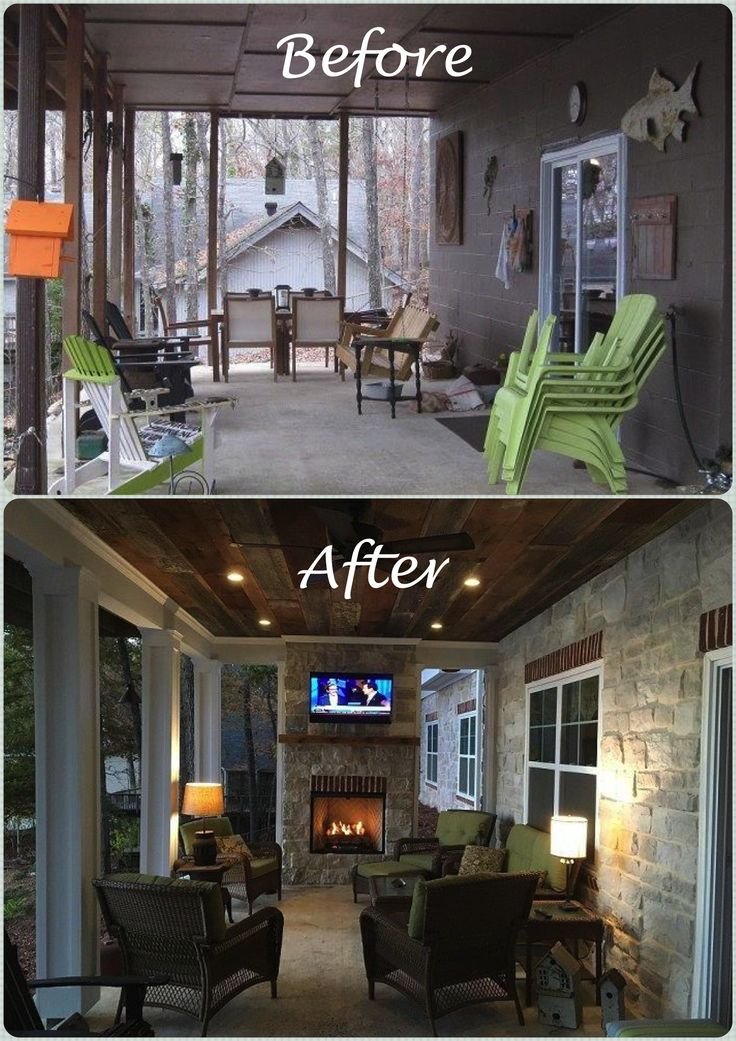 How we Built our Outdoor Fireplace on our Patio Po…