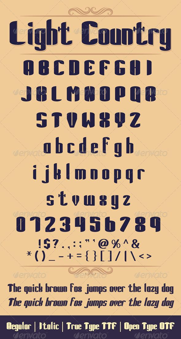 """Light Country Font  #GraphicRiver         An all-caps. Includes a full character and number. Should be used at 18 pt.   AaBbCcDdEeFfGgHhIiJjKkLlMmNnOoPpQqRrSsTtUuVvWwXxYyZz 0123456789 !$?.,"""":';     Created: 1November13 CompatibleOS: Mac #PC FontFilesIncluded: TrueTypeTTF #OpenTypeOTF OptimumSize: 14pt Tags: alphabet #comic #cool #decorative #design #doodlefont #education #educational #elegant #font #fun #grammar #illustration #italic #learn #letters #line #modern #notes #oldskull #pen…"""