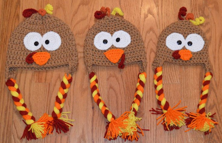 turkey hat Child to Adult turkey hats by KustomizableKreation