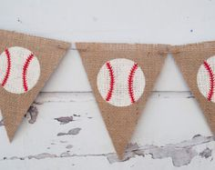 Baseball Banner Baseball Baby Shower Banner by CraftyCue on Etsy