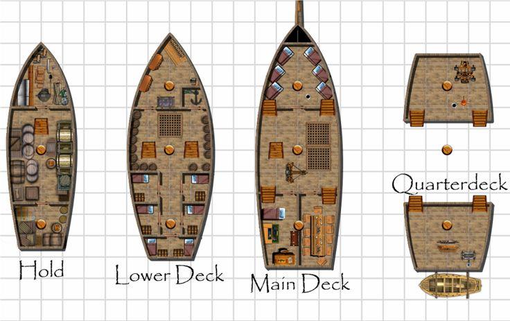 Pirate Ship Deck Plans Imgtagram Ships Pinterest