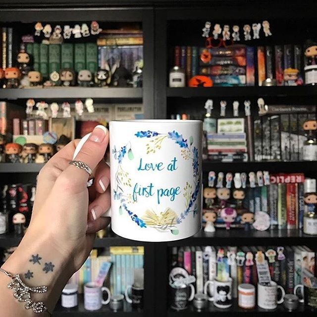 So this is bookish heaven amiright?? Gorgeous photo by @katielmae 😍😍 Thanks for using our tag! ❤❤ ...... Bookish mug by @shopthepathtonarnia ...... Don't forget to tag your photos with #bookishmerchfeatures for a chance to featured! ❤ ....... Posted by April @b00kswithmaps . . . . . #shelfie #shelfies #bookishmug #bookishmerch #bookmerch #shopthepathtonarnia #society6 #redbubble