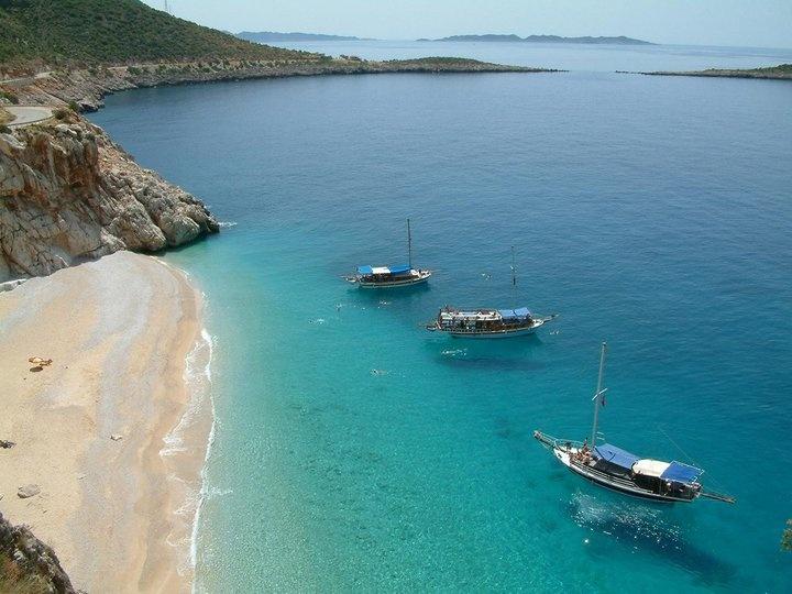 Kaputas beach, Kalkan. Mediterranean coast of Turkey. It's the most beautiful beach I've ever swum.