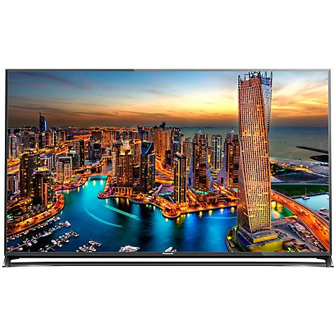 "Buy Panasonic Viera TX-55CX802B LED 4K Ultra-HD 3D Smart TV, 55"" with Freeview HD/freesat HD, Built-In Wi-Fi & Voice Assistant Online at johnlewis.com - New 2015 model £2,299 at 12-7-15 (currently £200 cashback)"