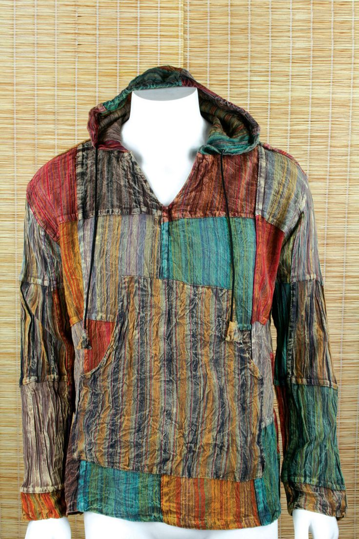 Samir Men S Patchwork Hoody Hippie Style Clothing