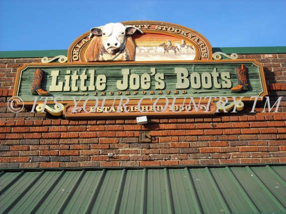 Western Photography Little Joes Boots Business Storefront