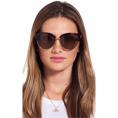 Hitchcock sunglasses in brown
