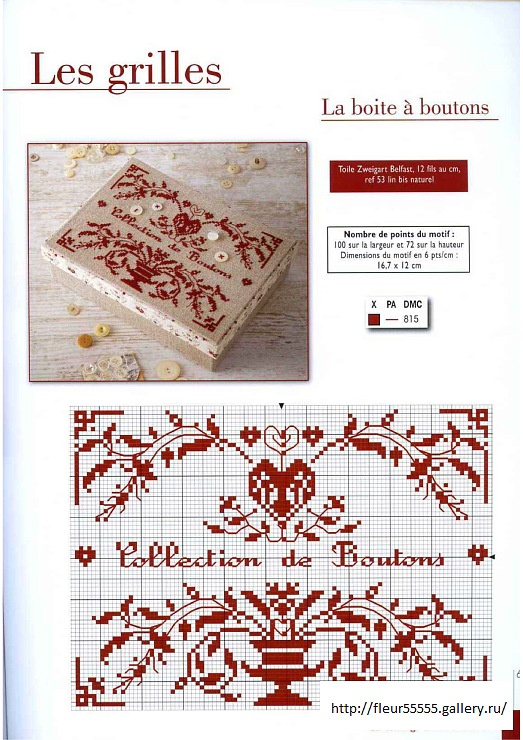 Point de croix monochrome: ❤️*❤️ cross stitch