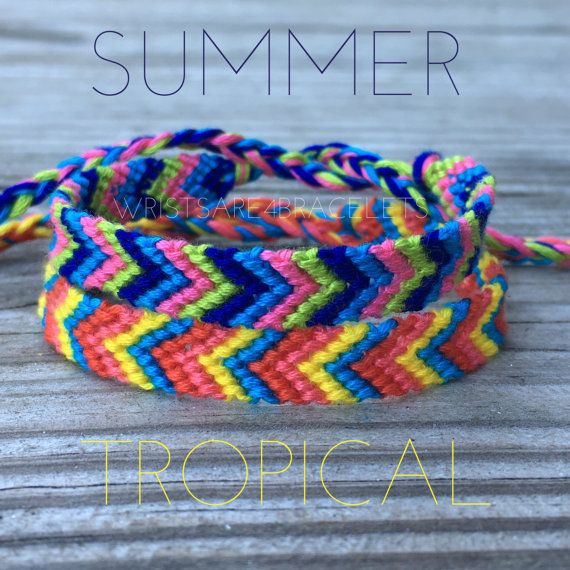 how to make a chevron bracelet with string