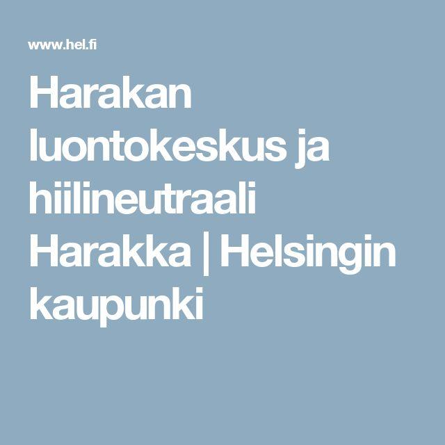 Harakan luontokeskus ja hiilineutraali Harakka | Helsingin kaupunki
