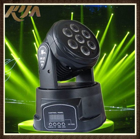 2014 New Arrival 7pcs 12w RGBW Four IN 1 Moving Head American Dj Lighting