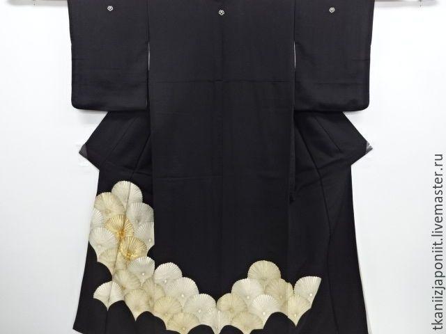"""Купить Кимоно томэсодэ """"Кику"""" - кимоно, японское кимоно, антиквароне кимоно, для пошива платья, для шитья"""