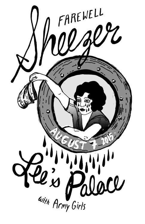 Sheezer (all women weezer cover band) at Lee's Palace. Original gig poster.