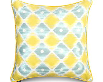 Geometry Yellow High Quality Pillowcase -    Edit Listing  - Etsy