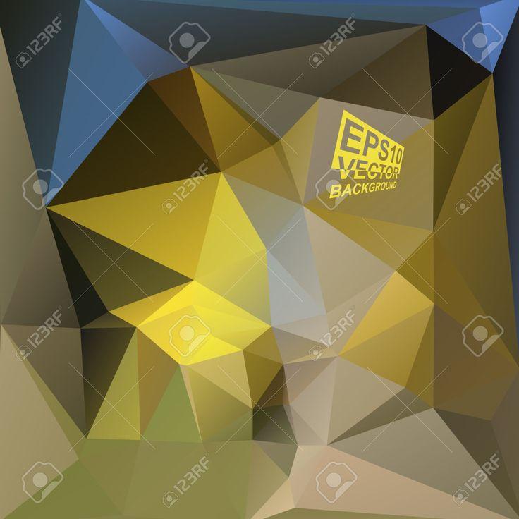 Multicolor (azul, Marrón, Amarillo, Púrpura, Gris) Plantillas De Diseño. Fondo Geométrico Triangular Abstracta Moderna Del Vector. Ilustraciones Vectoriales, Clip Art Vectorizado Libre De Derechos. Pic 33569095.